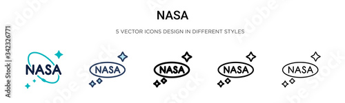 Fotografija Nasa icon in filled, thin line, outline and stroke style