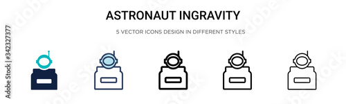 Photo Astronaut ingravity icon in filled, thin line, outline and stroke style