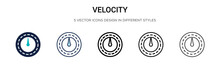 Velocity Icon In Filled, Thin ...