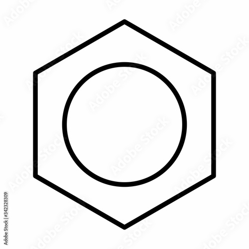 Photo Benzene icon illustration