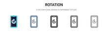 Rotation Icon In Filled, Thin ...