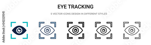 Eye tracking icon in filled, thin line, outline and stroke style Fototapeta