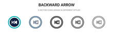 Backward Arrow Icon In Filled,...