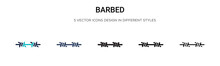 Barbed Icon In Filled, Thin Li...
