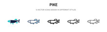 Pike Icon In Filled, Thin Line...