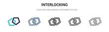 Interlocking Icon In Filled, T...
