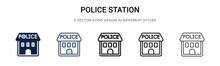 Police Station Icon In Filled,...