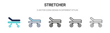Stretcher Icon In Filled, Thin...