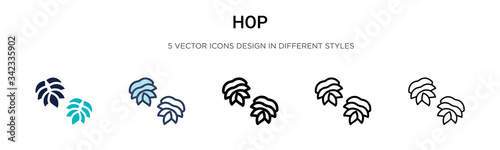 фотография Hop icon in filled, thin line, outline and stroke style