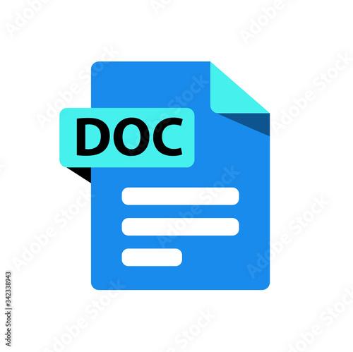 Vector blue icon DOC Canvas Print