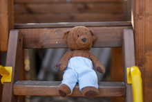 Soft Toy Bear In A Wooden Play...