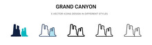 Grand Canyon Icon In Filled, T...