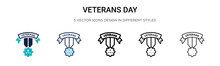 Veterans Day Icon In Filled, T...
