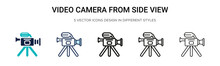 Video Camera From Side View Ic...