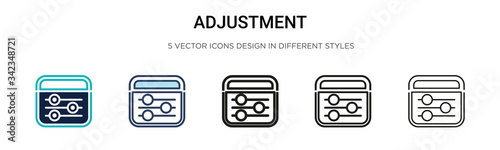 Photo Adjustment icon in filled, thin line, outline and stroke style