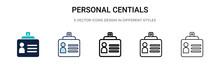 Personal Credentials Icon In F...