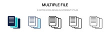 Multiple File Icon In Filled, ...