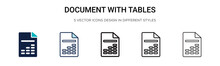 Document With Tables Icon In F...