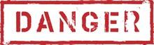 Danger Stamp Grunge Rubber Stamp With Word Danger,vector Illustration