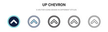 Up Chevron Icon In Filled, Thi...