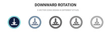 Downward Rotation Icon In Fill...