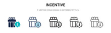 Incentive Icon In Filled, Thin...