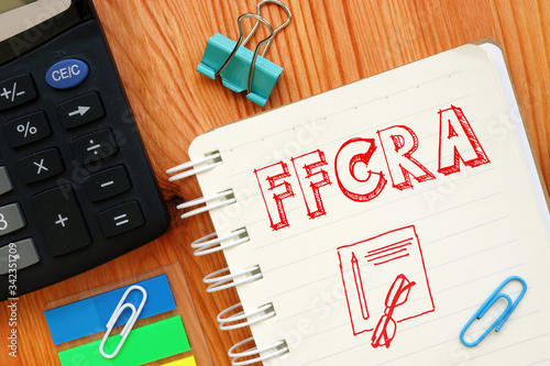 Photo Concep Handwriting acronyms FFCRA as The Economic families first coronavirus res