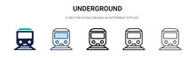 Underground Icon In Filled, Th...