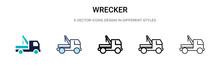 Wrecker Icon In Filled, Thin L...
