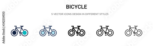 Photo Bicycle icon in filled, thin line, outline and stroke style