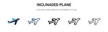 Inclinaded Plane Icon In Fille...