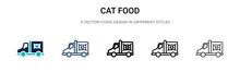 Cat Food Icon In Filled, Thin ...