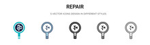 Repair Sign Icon In Filled, Th...