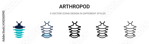 Photo Arthropod icon in filled, thin line, outline and stroke style