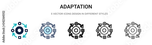 Adaptation icon in filled, thin line, outline and stroke style Canvas Print