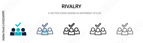 Tablou Canvas Rivalry icon in filled, thin line, outline and stroke style