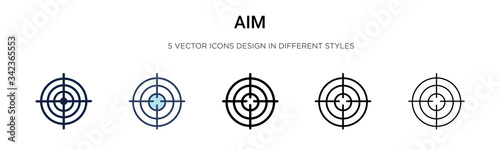 Photo Aim icon in filled, thin line, outline and stroke style