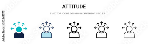 Photo Attitude icon in filled, thin line, outline and stroke style
