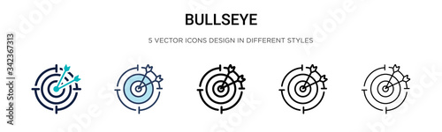 Photo Bullseye icon in filled, thin line, outline and stroke style