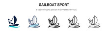 Sailboat Sport Icon In Filled,...