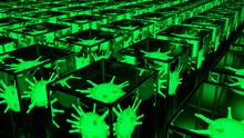 Viruses In Cuboids - Green