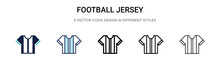 Football Jersey Icon In Filled...