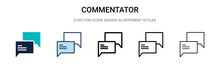 Commentator Icon In Filled, Th...