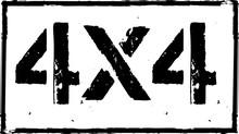 4x4 Offroad Emblem. Extreme Su...
