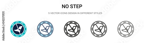 No step icon in filled, thin line, outline and stroke style Canvas Print