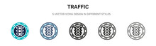 Traffic Signal Icon In Filled,...