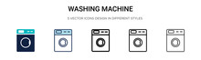 Washing Machine Icon Icon In F...