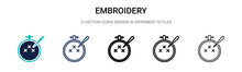 Embroidery Icon In Filled, Thi...