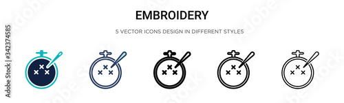Embroidery icon in filled, thin line, outline and stroke style Fototapeta