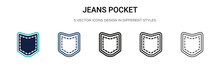 Jeans Pocket Icon In Filled, T...